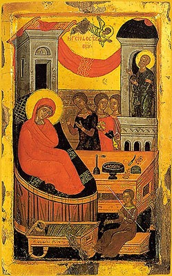 Nativity of the Theotokos, 16th c, Cretan School