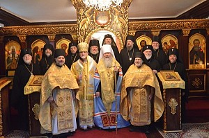 The Holy Synod including Bishop Paul