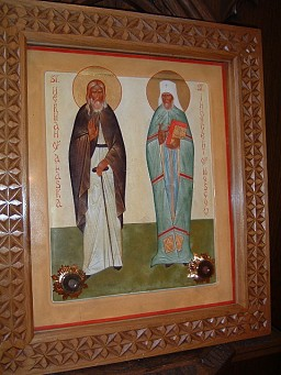 Our Parish Icon of Saints Herman and Innocent w/Relics
