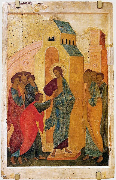 Faith of Thomas, by St. Andrei Rublev
