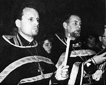 Fr. John Meyendorff (left), with Fr. Alexander Schmemann