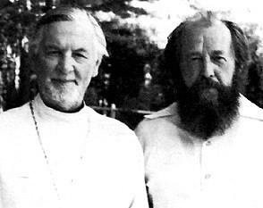 Fr. Alexander Schmemann with Aleksander Solzhenitsyn