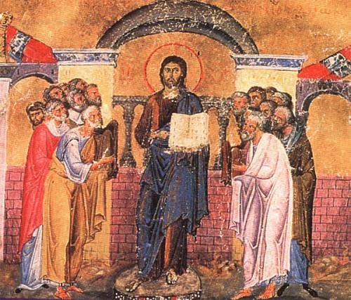 Christ enters the synagogue (Lk 4:16-22)