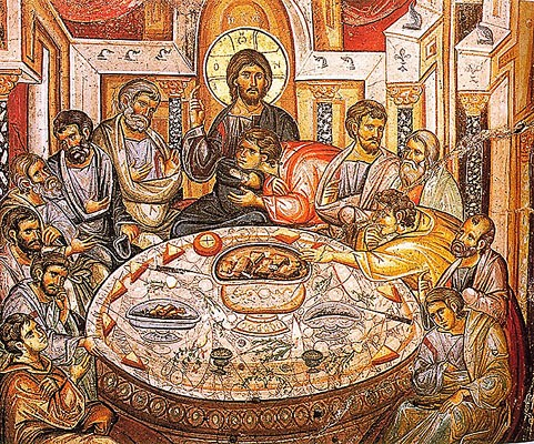 The Mystical Supper (Vatopedi Monastery, Mt Athos, 1312 A.D.)