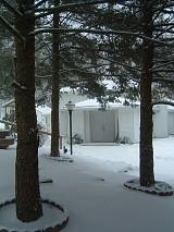 A Silent, Snowy Entrance to the Monastery Church