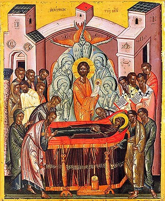 Icons of the Dormition and the Theotokos, from Uncut Mountain Supply