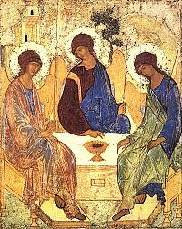 Icon of the Old Testament Trinity (Rublev)